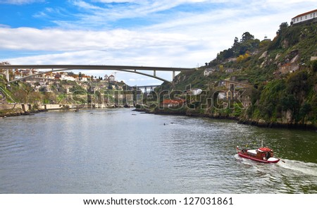 Portugal. Porto. Douro river and the city of Porto