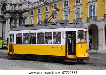Portugal, touristic tramway in Lisbon