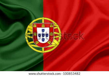 Portugal waving flag - stock photo