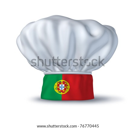 Portugese food symbol represented by a chef hat with the for Cuisine design portugal