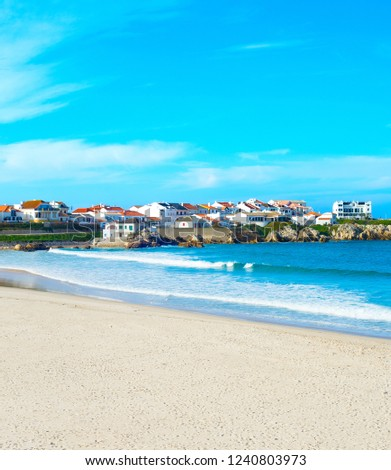 Portugese town on the ocean shore. Baleal, Portugal