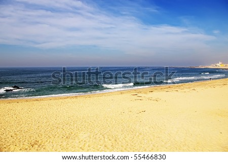 Portuguese beach with amazing colors and great sky