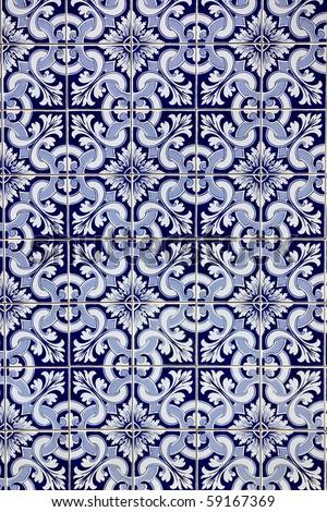 Portuguese blue tiles.
