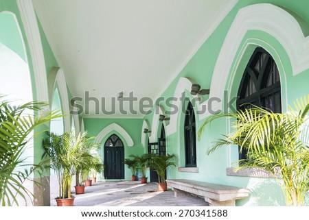 portuguese colonial church architecture in st michaels\'s cemetery macau china