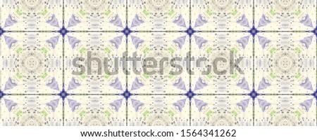 Portuguese Decorative Tiles. Portuguese Decorative Tiles Background. Plant Batik Ornament. Vintage Russian Backdrop. Square Mexican Ornament. Summer Organic