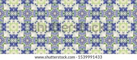 Portuguese Decorative Tiles. Portuguese Decorative Tiles Background. Vintage Aztec Backdrop. Garden Sicily Print. Patchwork Eastern Design. Flora Purple