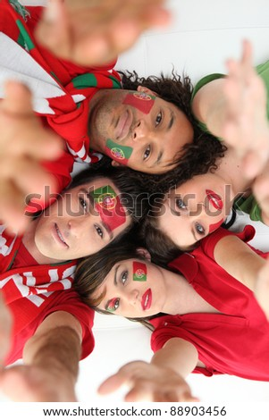 Portuguese football supporters