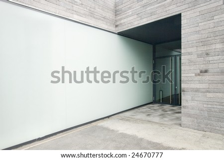 Portuguese modern architecture building at Madeira Island - stock photo