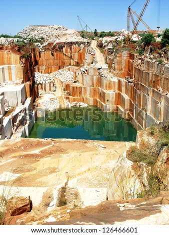 Portuguese quarry, alentejo region