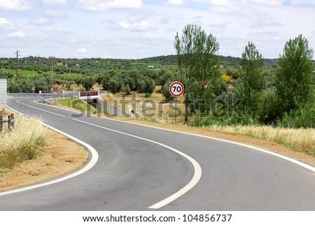 Portuguese road at alentejo region