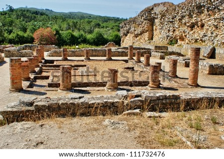 Portuguese Roman ruins in Conimbriga