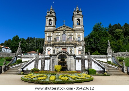 Portuguese sanctuary Bom Jesus do Monte (Good Jesus of the Mount) in Braga, Portugal