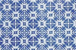 Portuguese tile. Azulejo. Colorful background.