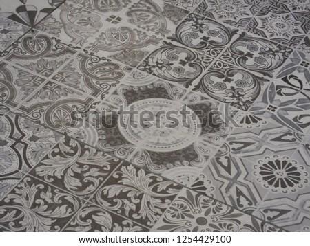 Portuguese tile pattern #1254429100