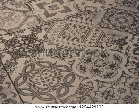 Portuguese tile pattern #1254429103