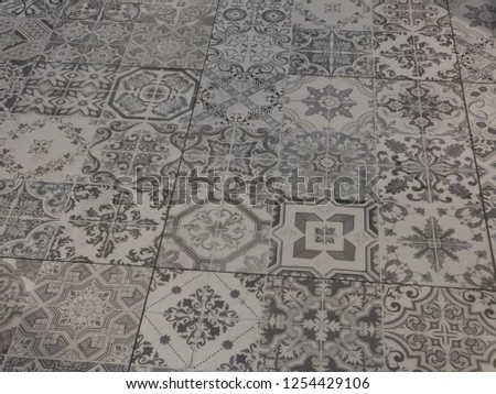 Portuguese tile pattern #1254429106