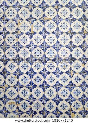 Portuguese tiles from a portuguese house #1310771240
