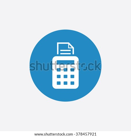 pos terminal icon, on white background