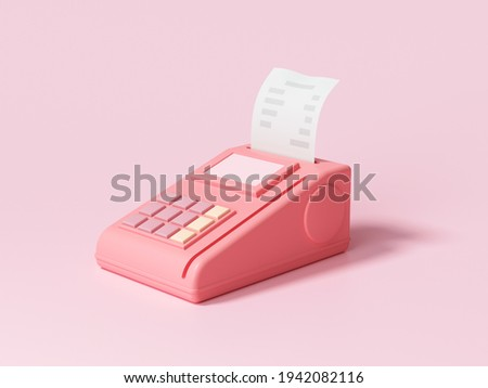 Pos terminal payment methods, online shopping payment by credit card 3d render illustration