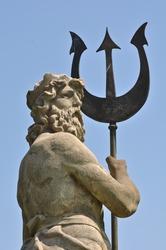 Poseidon with Triton from Atlantis in Barcelona Spain