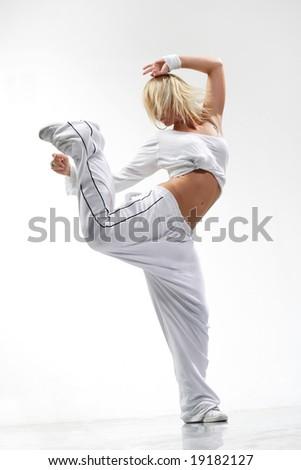 posing dancer