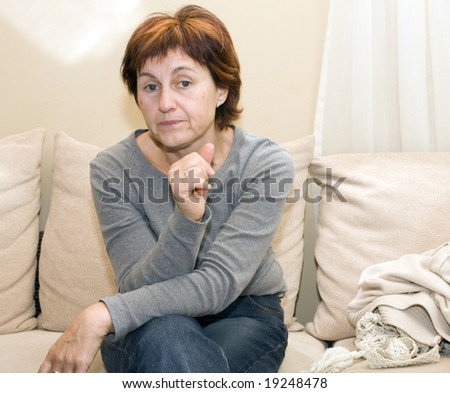 posing woman - stock photo