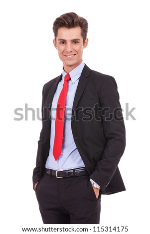 positive and relaxed business man looking very approachable