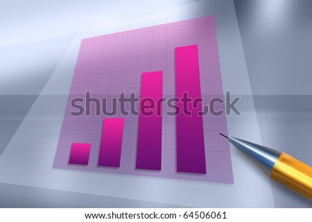 Positive business trend chart. Abstract background for technology, business, computer or electronics products.