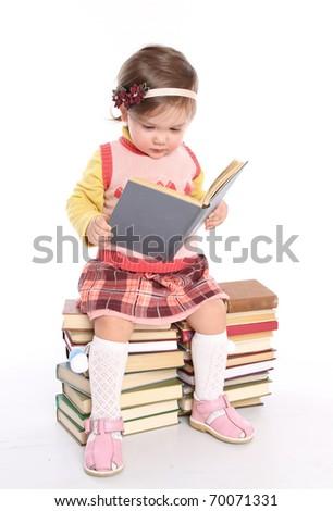 positive elementary school girl