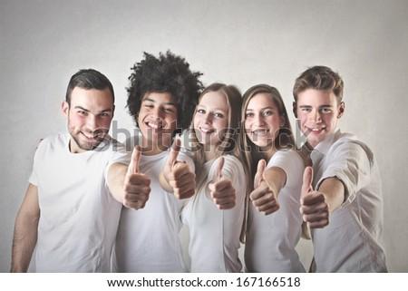 Positive Friends - stock photo