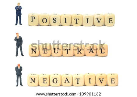 Positive negative and neutral feedback business concept - stock photo