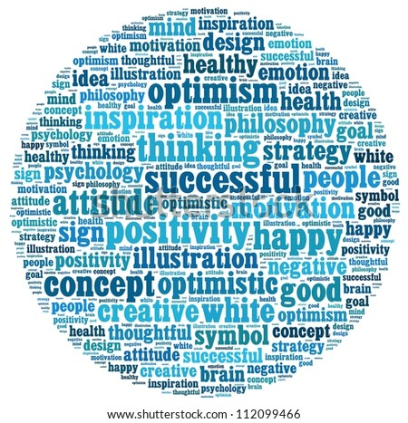 Positive Thinking info-text graphics and arrangement concept