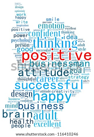 Positive Thinking Info-Text Graphics And Arrangement ...