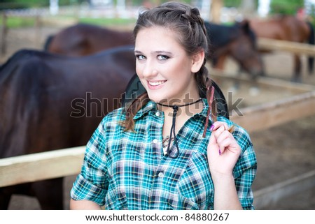 Positive young cowgirl