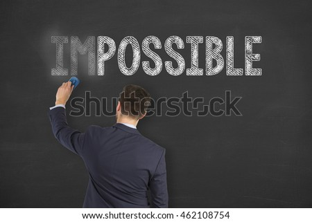 Possible Concept on Chalkboard Background