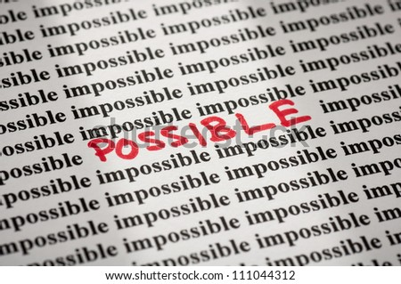 Possible in impossible