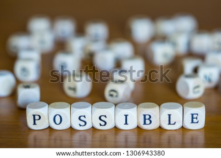 Possible written with wooden cubes #1306943380
