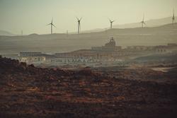 post-apocalyptic desert landscape in the apocalypse