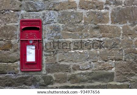 Post Box, English village