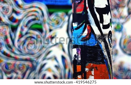 post colorful berlin wall