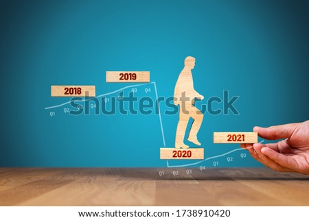 Post covid-19 era helping hand for business and economy concept. Government economic stimulus after covid-19. Secretary of the treasury (politician) stimulate economy for GDP growth in year 2021.