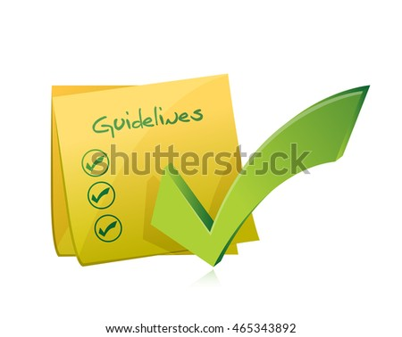 post guidelines check list illustration design graphic