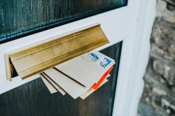 Post in the door mailbox