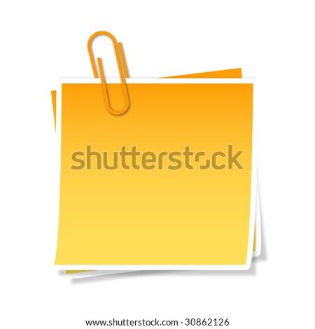 Post it - stock photo