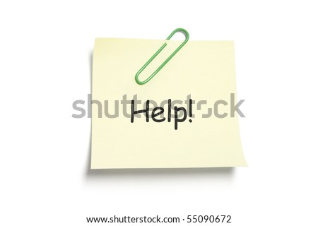 Post It Note Paper on White Background