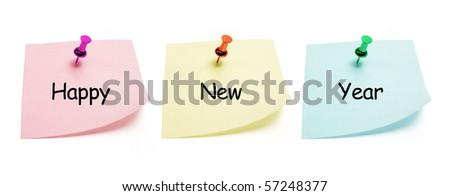 Post It Notes on White Background