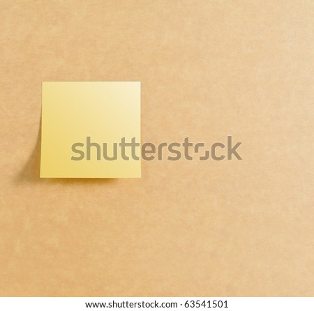 Post it on left of brown board texture