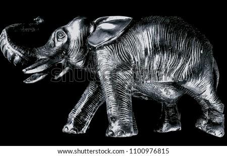 Post 2nd world war Japanese pewter elephant #1100976815