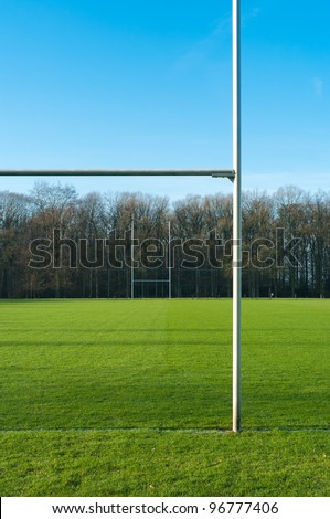 post of a rugby field