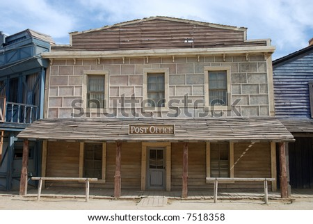 Post office in an old American western town - stock photo